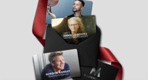 Steph Curry Gordon Ramsey Annie Leibovitz gift cards